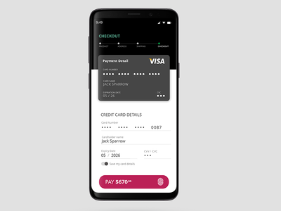 Credit Card Checkout #DailyUI #02