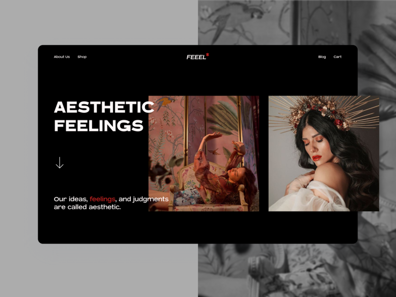 Aesthetic Feelings * firstshot womans photography feelings aesthetic minimal ecommerce mainpage interface ui