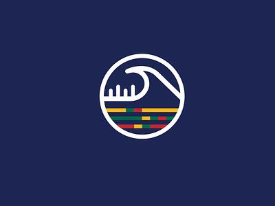 LBSA logo design lietuvos bangų sporto asociacija surfing baltic sign design branding vector logo