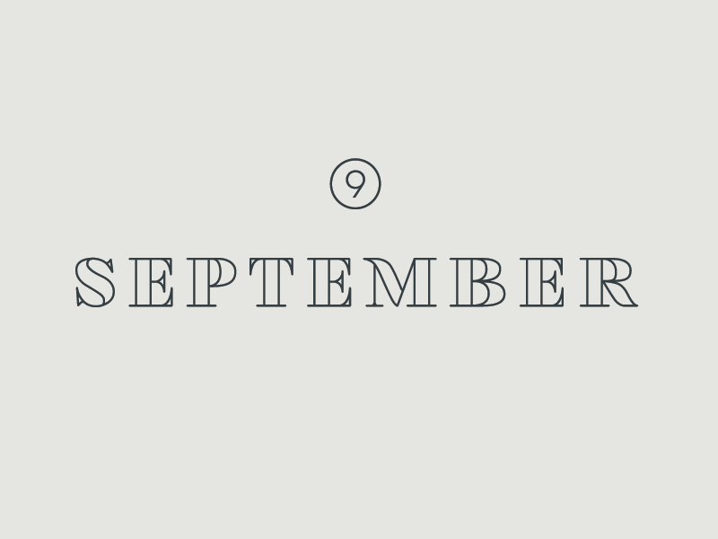 September Playlist type typography text graphic design serif modern classic clean simple