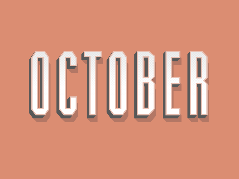 October type typography text graphic design modern