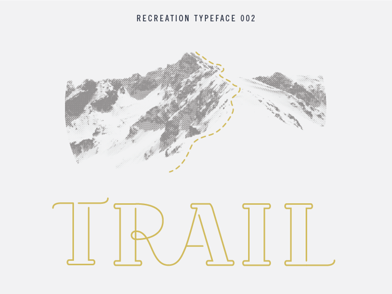 Trail Typeface display lettering font typeface