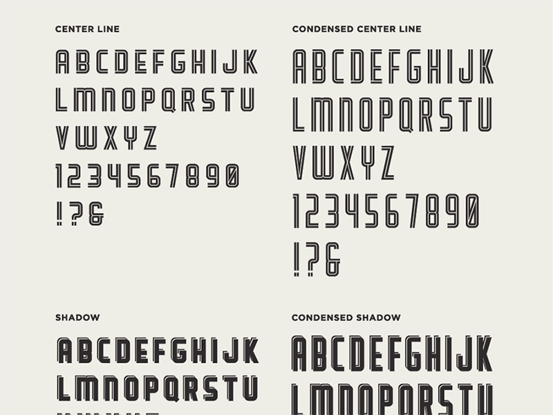Scout Typeface display lettering font typeface