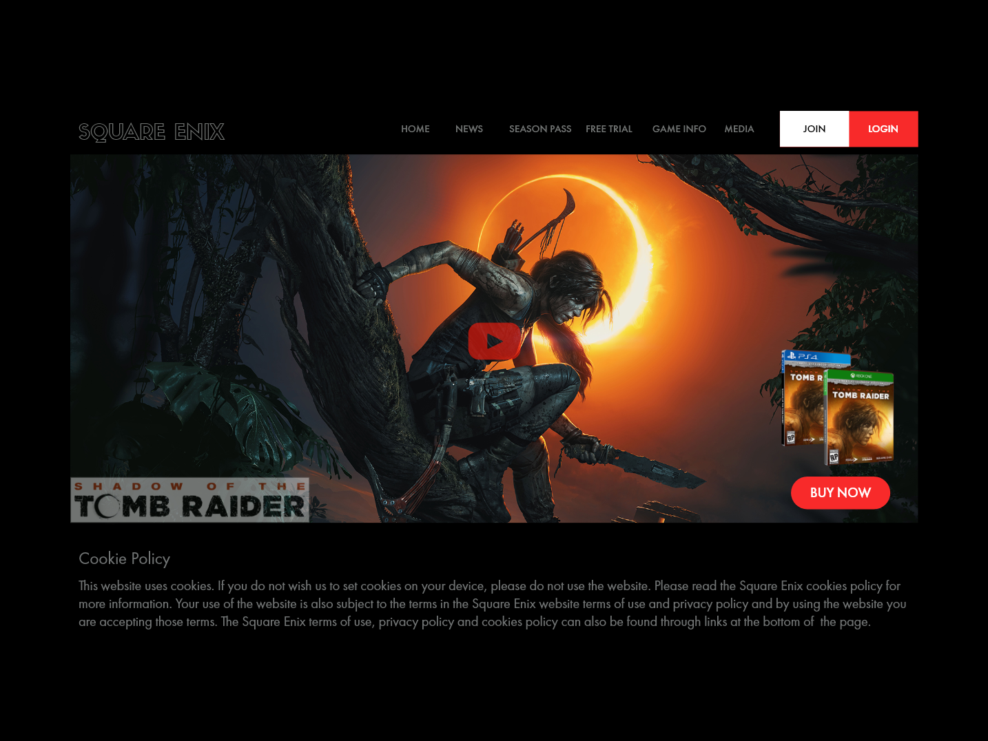 Tomb Raider Landing Page minimal website web ui branding web ui design design adobexd