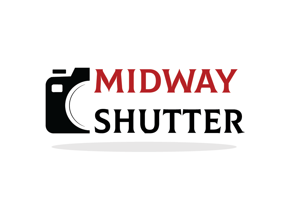 Our shutter don't open as well as it doesn't close! midwayshutter photography vector adobe illustration icon minimal typography logo illustrator adobeillustrator flat design branding