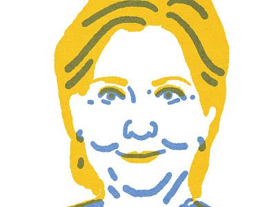 """Quick Portrait"" Hillary Clinton illustration election2016"