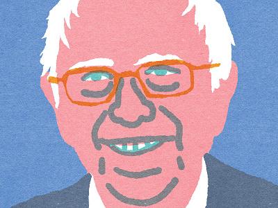 """""""Quick Portrait"""" Bernie Sanders illustration election2016"""