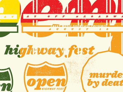 Open Highway Fest 2013 murder by death open fest 4 posters in 1 texture hfj ziggurat