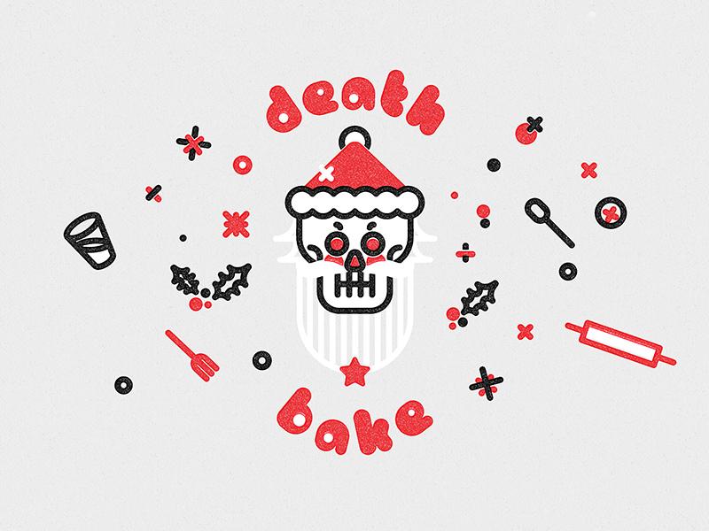 death bake branding santa death christmas