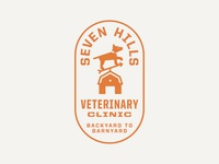 Seven Hills Veterinary Clinic Logo: Vertical