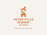 Seven Hills Veterinary Clinic Logo: Horizontal