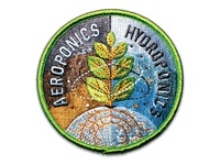 Space Badge Embroidery: Aeroponics / Hydroponics
