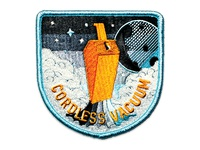 Space Badge Embroidery: Cordless Vacuum