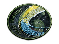 Space Badge Embroidery: Space Farming