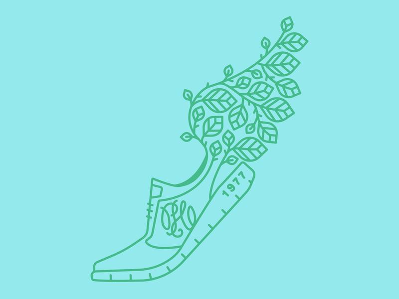 Running Ag paradowski leaves marathon green blue wing leaf shoe