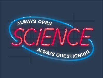 Science Open Sign illustrator science illustration lines vector design illustration sign open