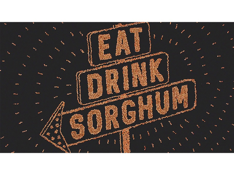 Sorghum as Food done by hand illustrations concept ag agriculture stopmotion seed light sorghum drink eat sign marquee