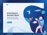 Space Illustration Header for Virtual Reality
