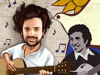 Caricature Ignacio Achurra