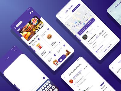 Food Drone Delivery ui ux design uidesign design prototyping uiux mobile app design mobile app mobile design mobile ui ui design