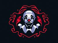 Scary Clown Mascot Logo
