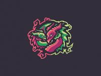 Magic Dragons Mascot Logo