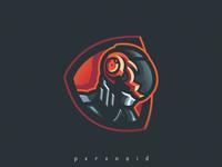 Soldier Bot Mascot Logo