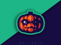 Evil Pumpkin Mascot Logo