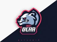 Angry Bear Mascot Logo