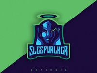 Sleepwalker Mascot Logo