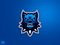 Angry Dog Mascot Logo