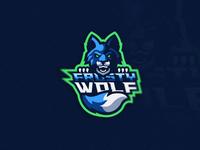 Frosty Wolf Mascot Logo