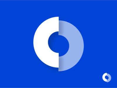 ClipDrive Logo api mark connect circle cloud clip drive identity brand icon symbol logo