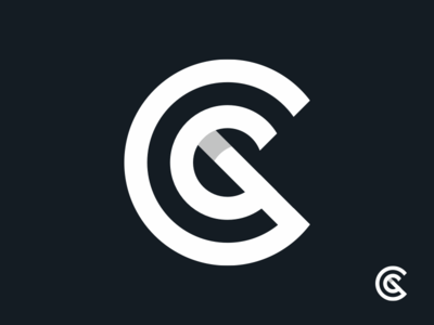 Chaomatic Logo growth sales system identity brand bold shadow c icon symbol mark logo