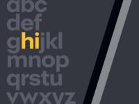 Alphabet : hi