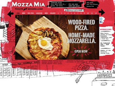 Neighborhood Pizza Joint Site cut and paste website userinterface ui