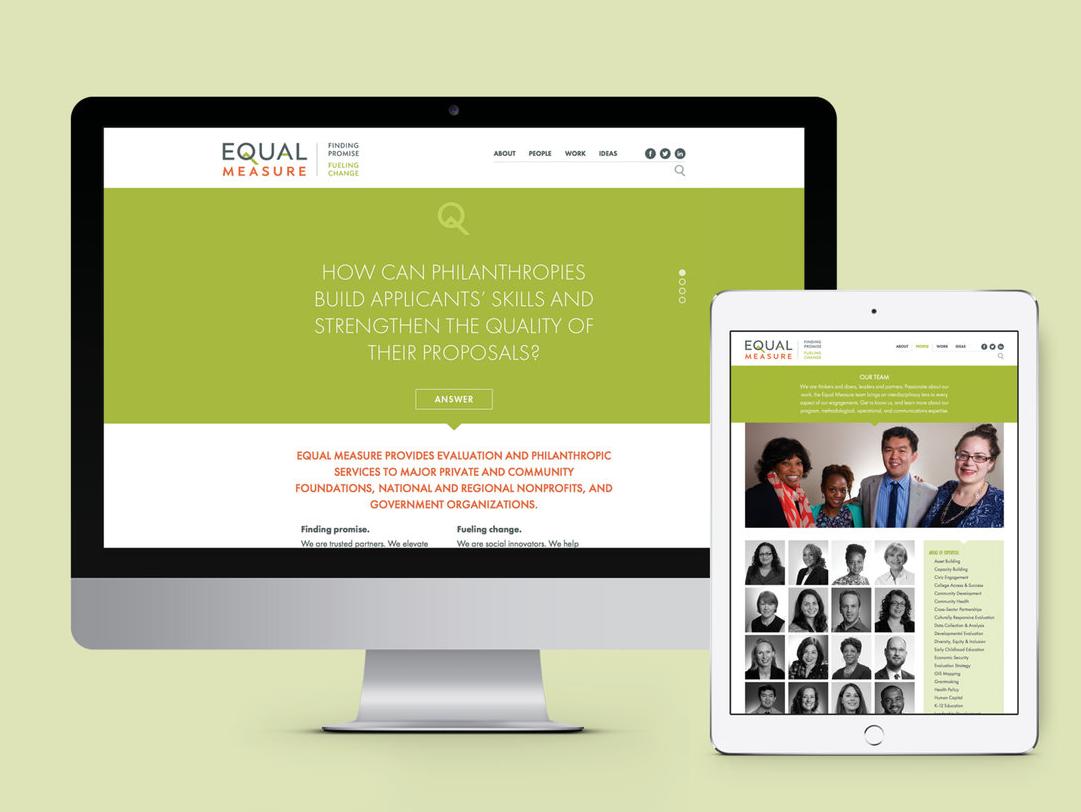 Responsive Site visual design ui website