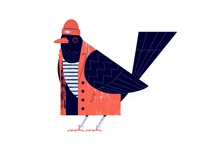 Parisian Bird #1 Hipster blackbird