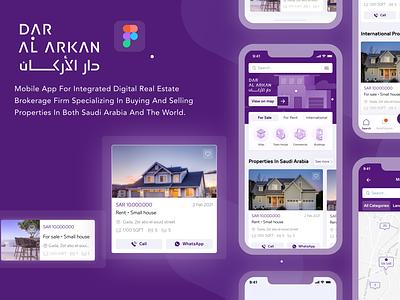 Sale and Rent Property App design ux ui app