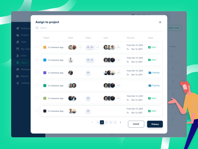 Assign to project - Pintaps ux design ui
