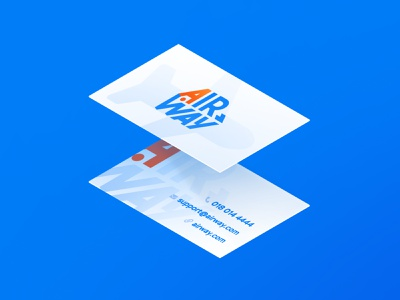 AirWay Business Cards design business cards logo branding airway airlines 2d illustration businesscard