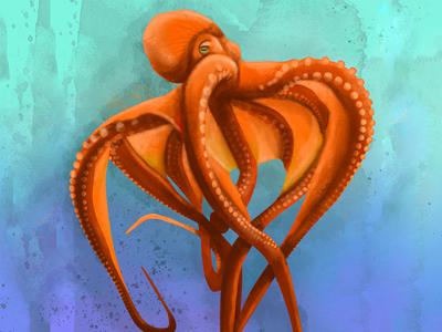 Octopus 🐙 draft drawing art design devilfish poulpe octopus illustration