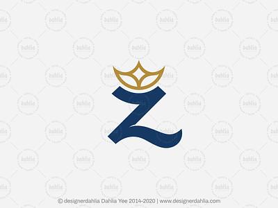 Letter Z Crown Logo letter logo monogram initials brand identity branding logo for sale letter mark logos lettermark logo design letter z crown letter z logo