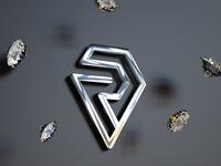 Letter R Diamond Logo