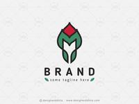 Floral Bud Letter M Logo