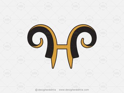 Letter H Horn Logo