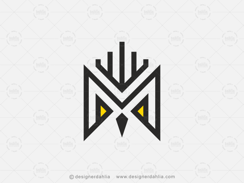Owl Letter M Logo By D A H L I A On Dribbble