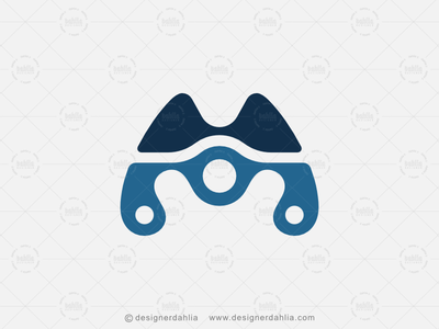 Letter M Drone Tech Logo