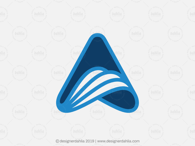 Letter A Wave Logo letter a logoground logo consulting technology travel logos for sale logo for sale letter logo logo design brand identity branding waves abstract initials letter mark logo lettermark letter a logo