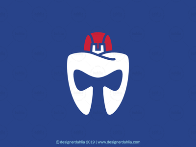 Letter T Spartan Tooth Logo